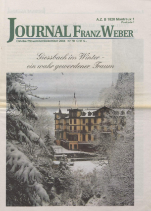 Journal Franz Weber 70