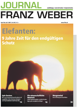 Journal Franz Weber 80
