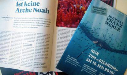 Sonderausgabe des Journal Franz Weber zum geplanten «Ozeanium» in Basel