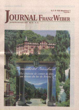 Journal Franz Weber 63