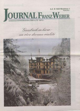 Journal Franz Weber 70